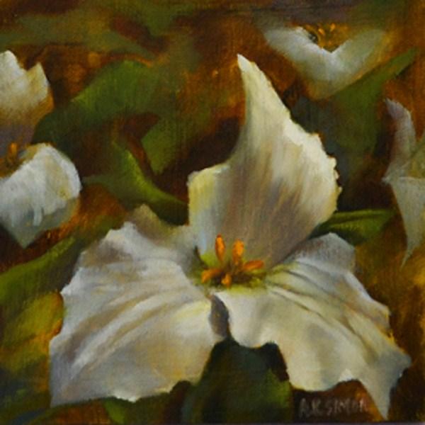 """Trillium of Ohio"" original fine art by A.K. Simon"