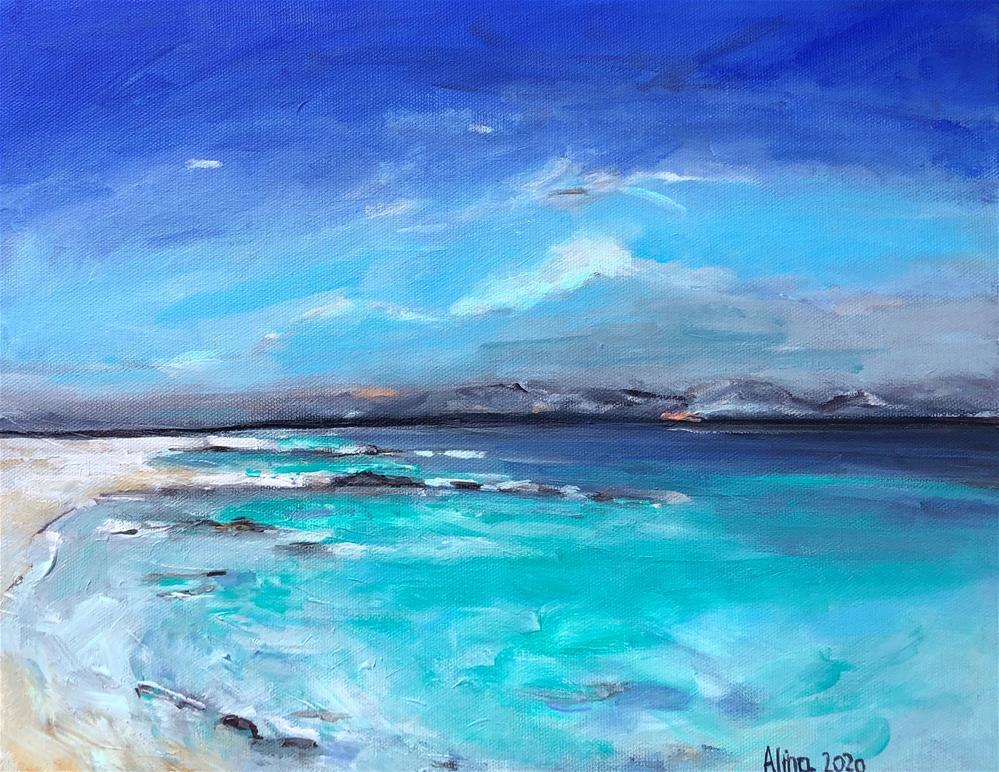 """""""Isle of Barra """" original fine art by Alina Vidulescu"""