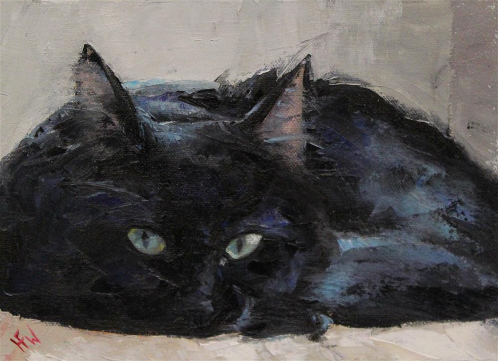 """green eyes"" original fine art by H.F. Wallen"