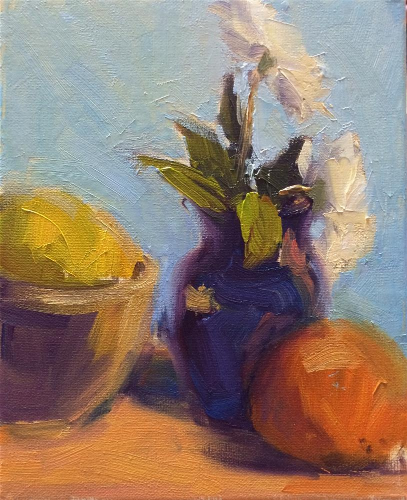 """Flowers and Fruits"" original fine art by Naomi Bautista"