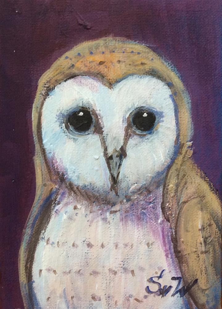 """""""Barn owl"""" original fine art by Sonia von Walter"""