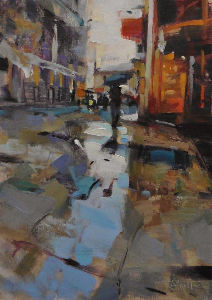 """Street of Malaga"" original fine art by Víctor Tristante"