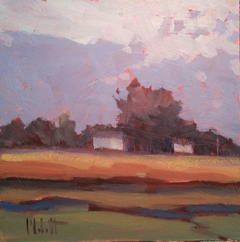 """Contemporary Impressionism Rural Landscape Daily Painting"" original fine art by Heidi Malott"