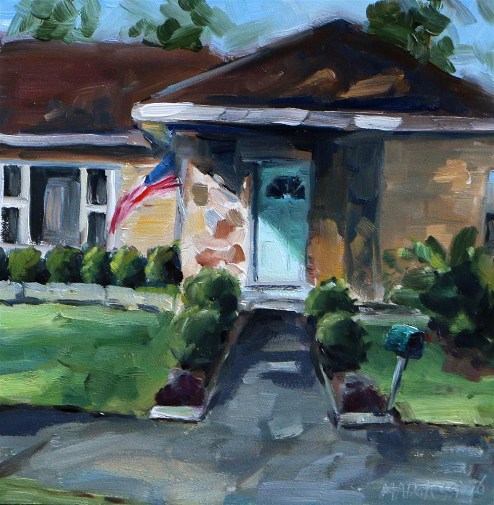 """Texas house in the Heights 2"" original fine art by Miranda Dalessi"