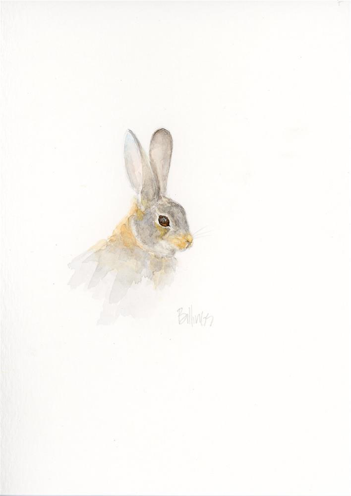 """""""Cottontail Portrait Study V"""" original fine art by Susanne Billings"""