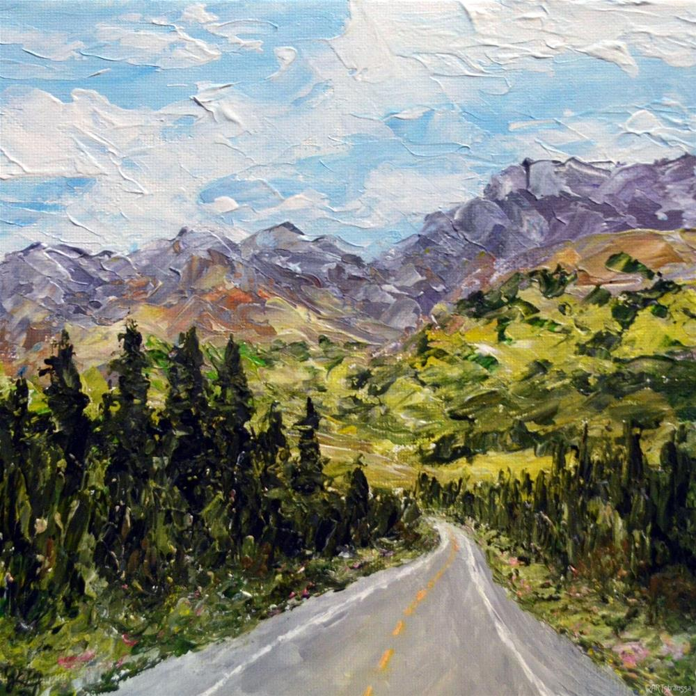 """SALE!!!Street to the Rockies"" original fine art by Gloria Ester"