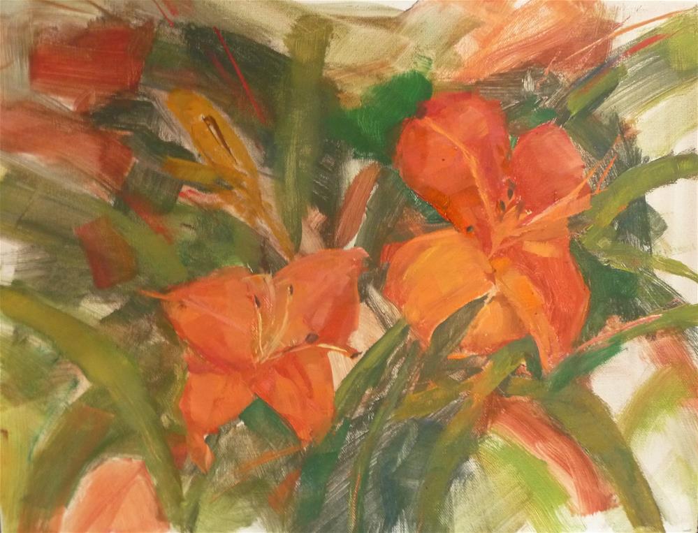 """Lillies"" original fine art by Carol Josefiak"