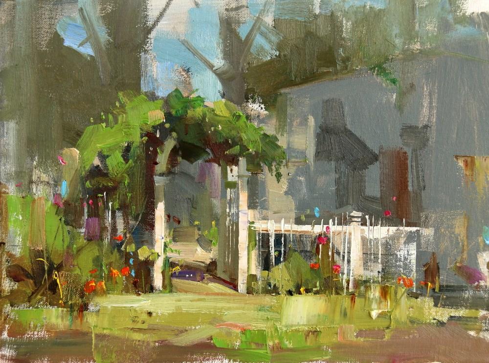 """""""Linda's Arbor"""" original fine art by Qiang Huang"""