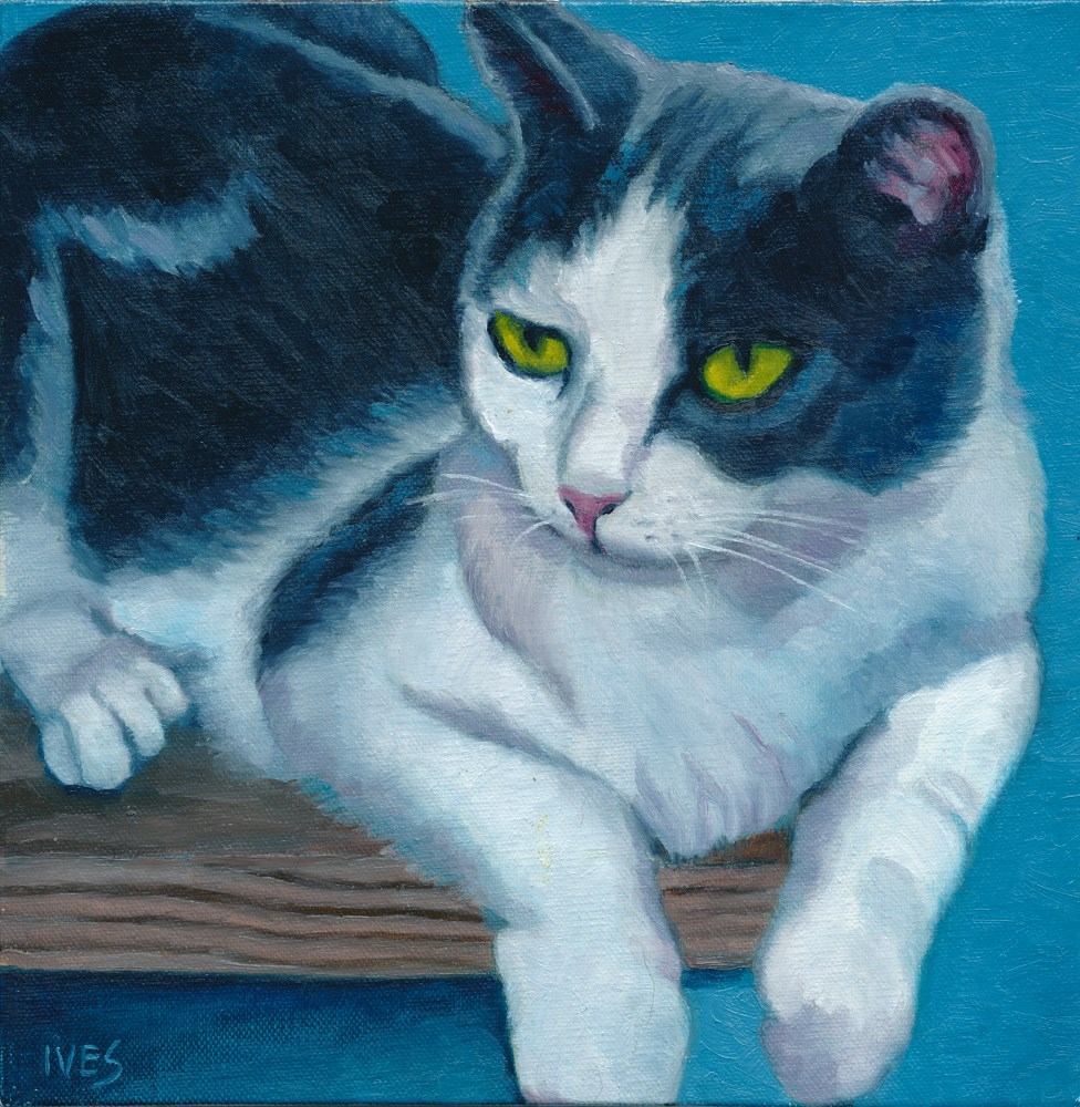 """Rescued Feral GiGi"" original fine art by Rk Ives"