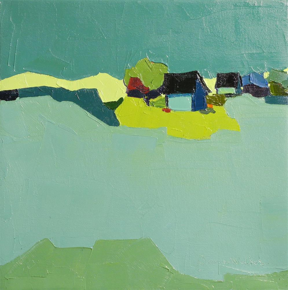 """Turquoise Nights"" original fine art by Donna Walker"