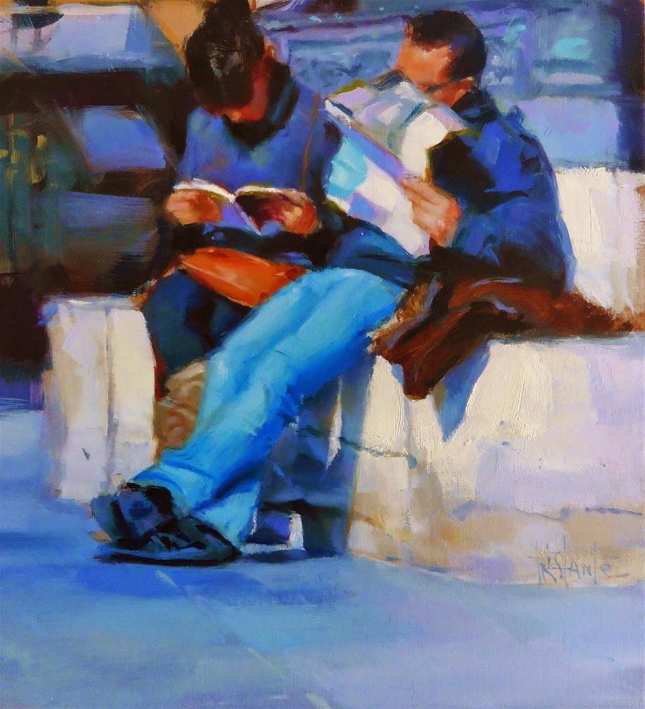 """Reading the map"" original fine art by Víctor Tristante"