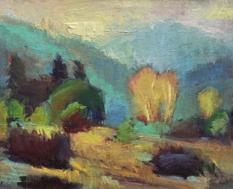 """Headed to Canyonville"" original fine art by Patti McNutt"