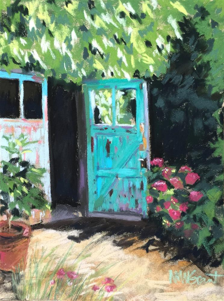 """The Studio Door"" original fine art by Michelle Wells Grant"