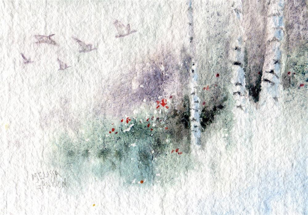 """""""Flying Through the Quiet"""" original fine art by Melissa Gannon"""