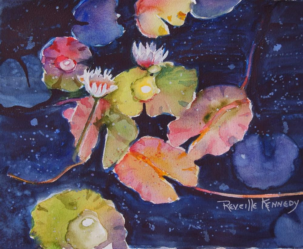 """Water Lily Pond"" original fine art by Reveille Kennedy"