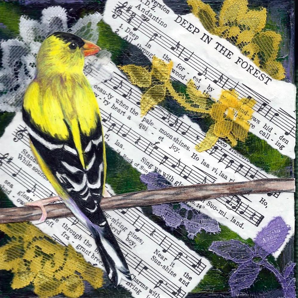 """""""Deep In The Forest"""" original fine art by Lisa Wiertel"""