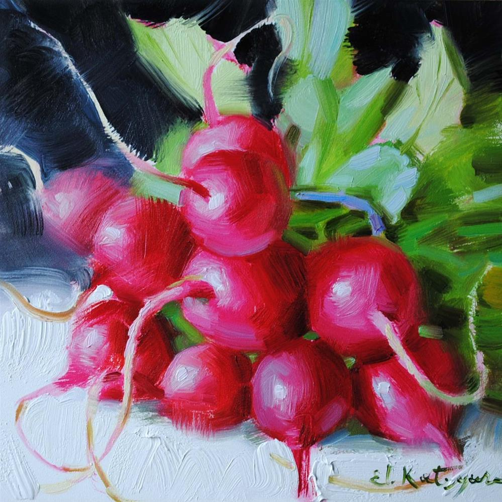 """Round Radishes"" original fine art by Elena Katsyura"