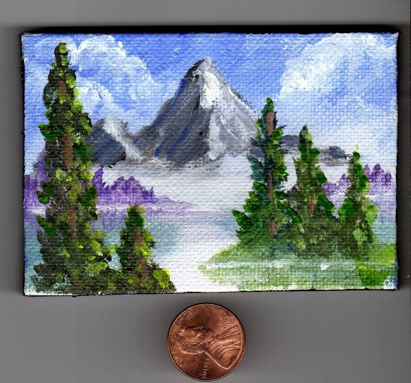 """Tribute to Bob Ross"" original fine art by Patricia Ann Rizzo"