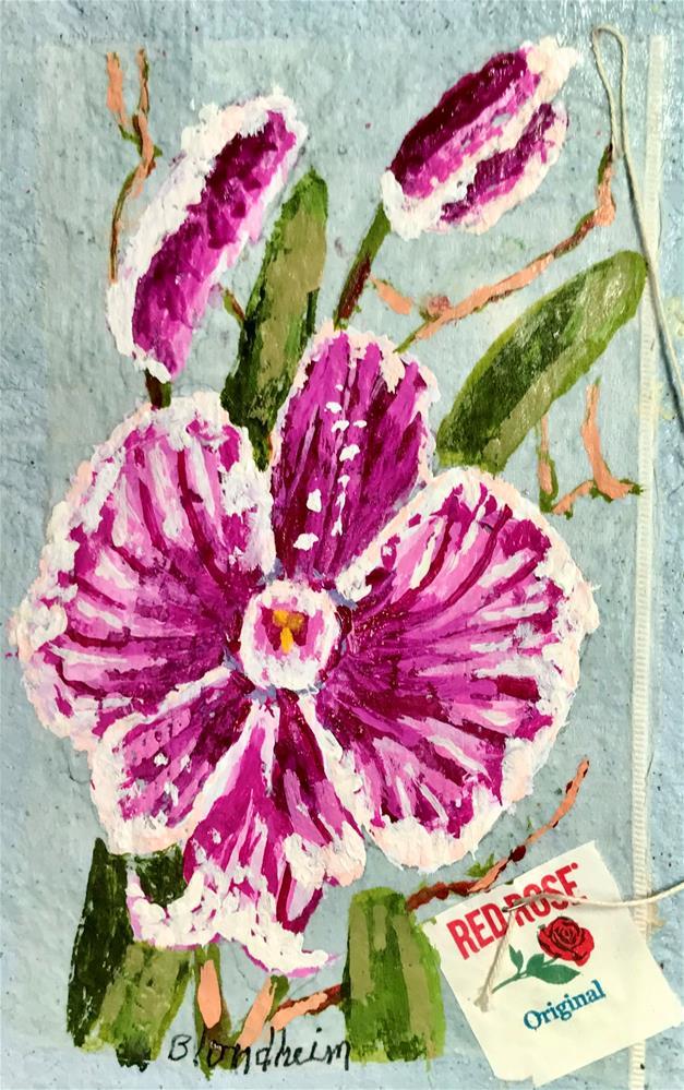 """Orchid Blooms"" original fine art by Linda Blondheim"