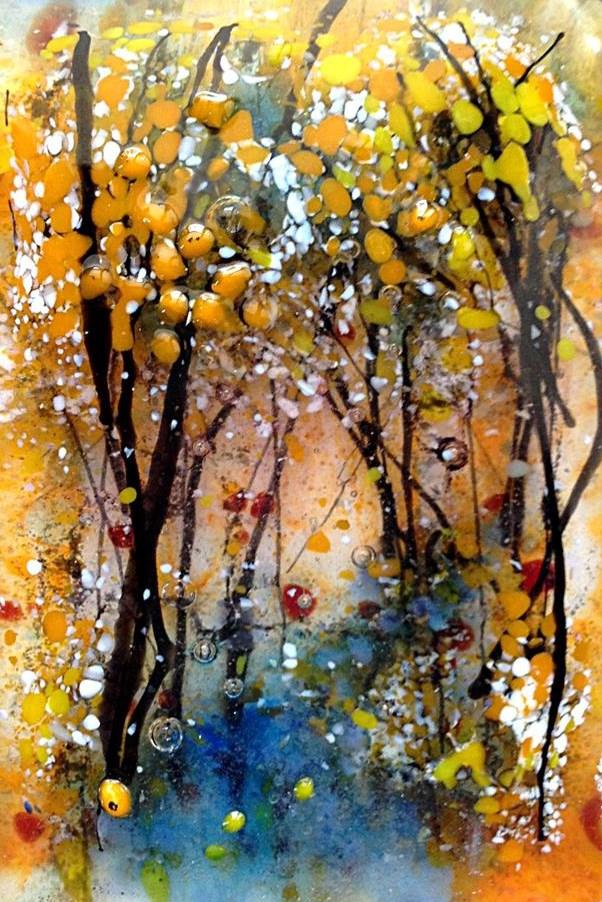 """""""deep forest"""" original fine art by Kristen Dukat"""