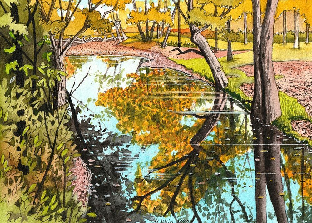 """Tennessee Stream"" original fine art by Jeff Atnip"
