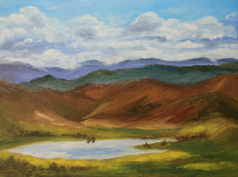"""""""This Land is Our Land... 2"""" original fine art by Jean Nelson"""