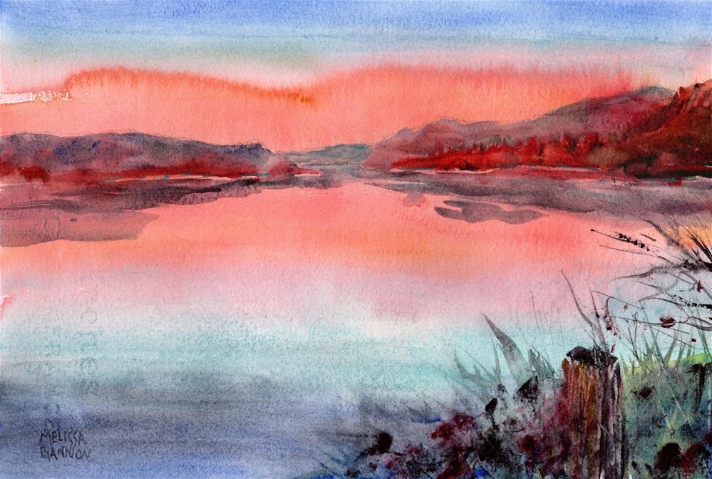 """Sunset Looking East"" original fine art by Melissa Gannon"