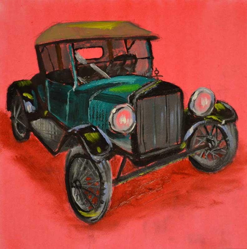 """Model T Roadster Runabout"" original fine art by Jeff Atnip"