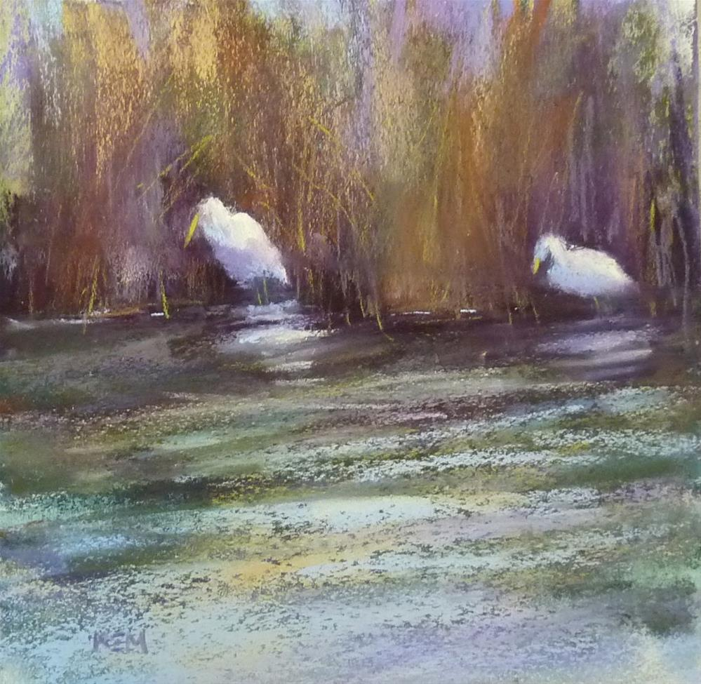 """Neighbors Across the Creek"" original fine art by Karen Margulis"