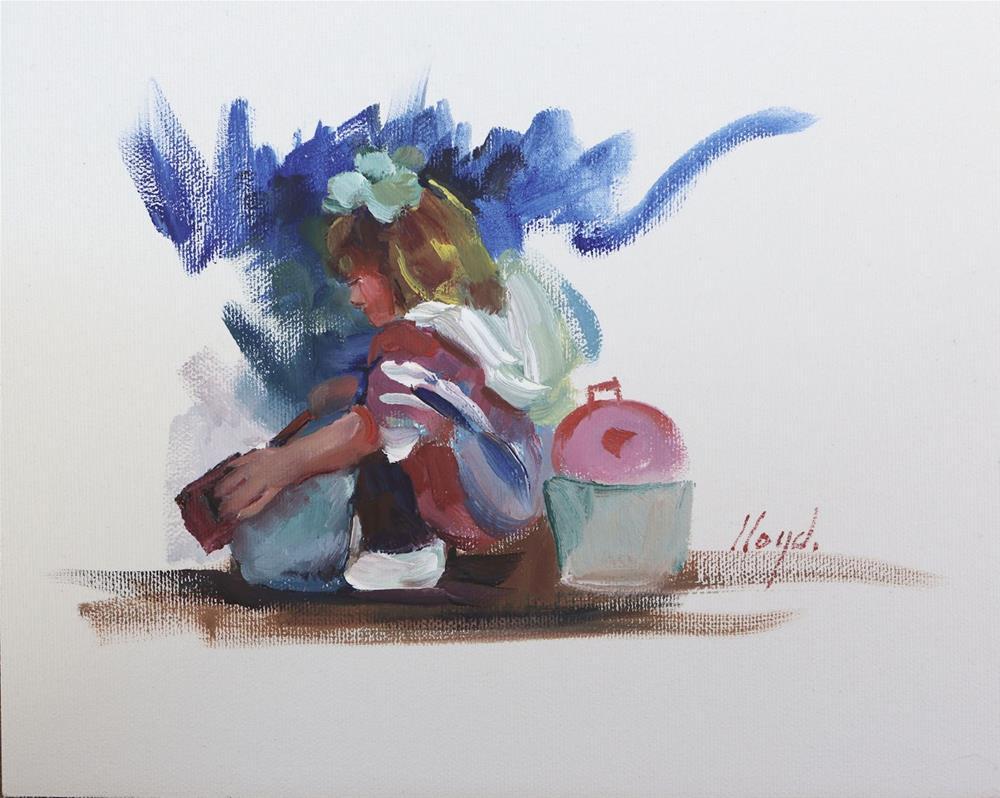 """Playing Outside"" original fine art by Diane Lloyd"