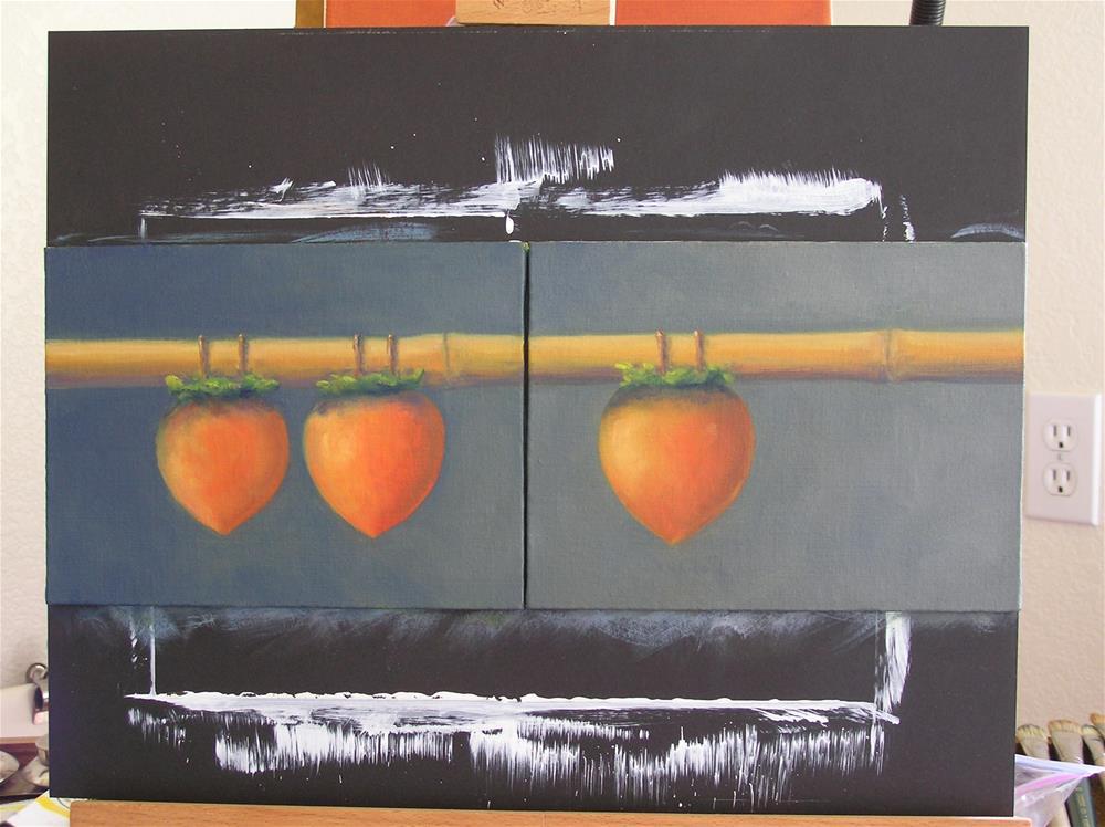 """Persimmons"" original fine art by Susanne Billings"