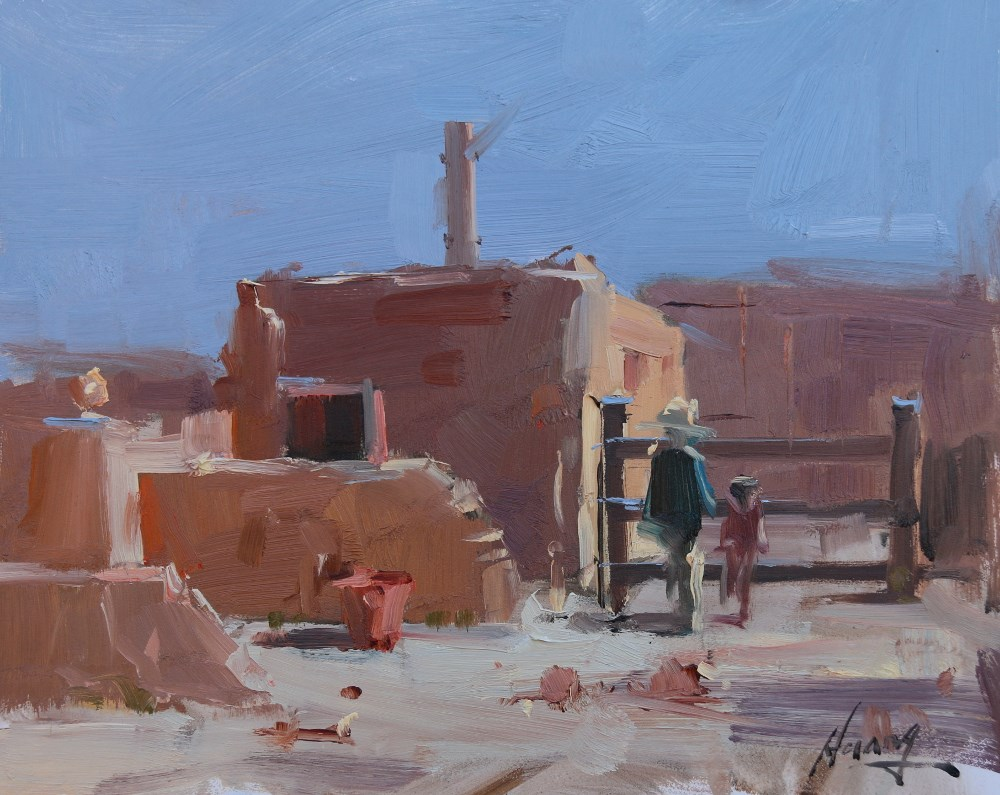 """""""Plein Air Painting at Tucson 3"""" original fine art by Qiang Huang"""