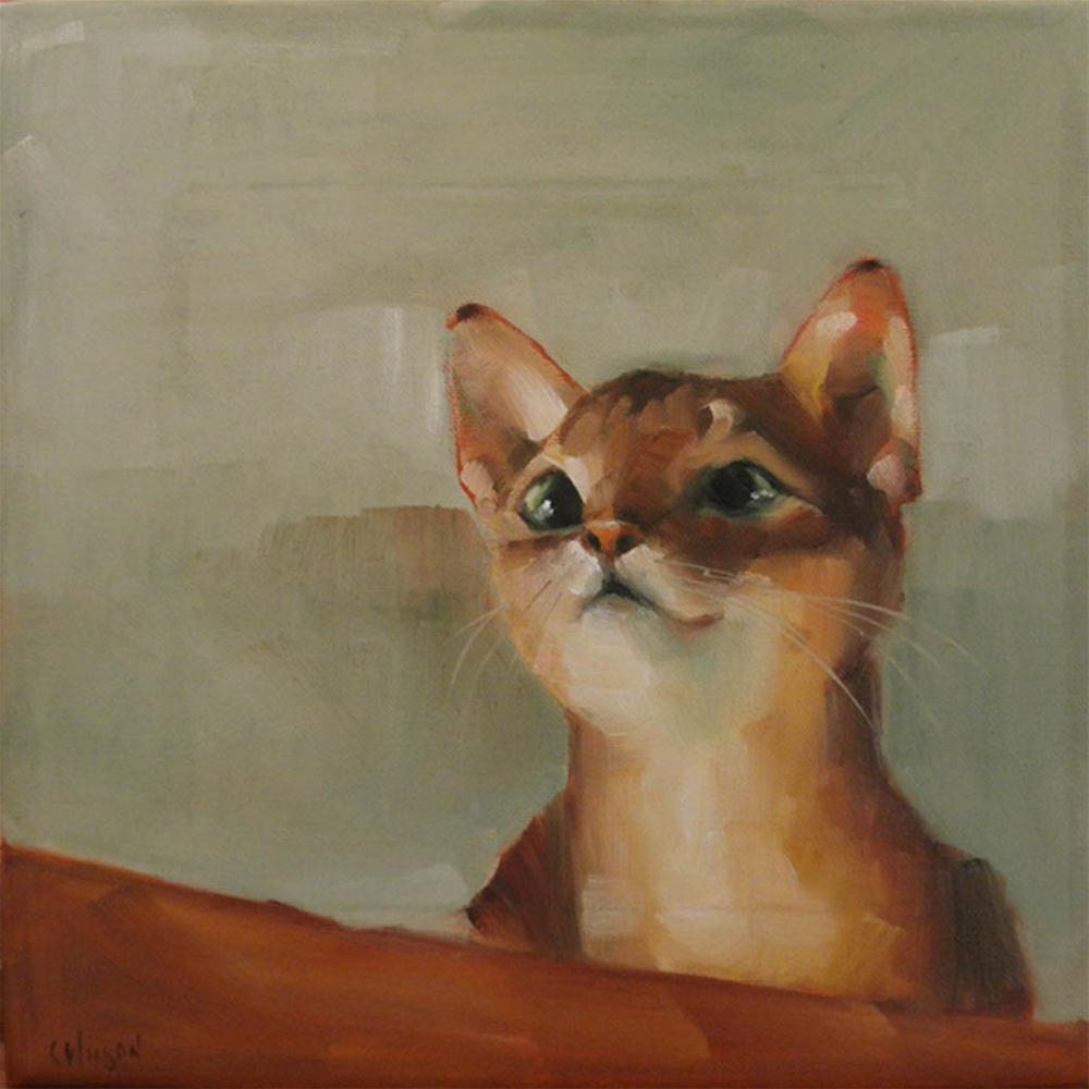 """Lily the Cat"" original fine art by Cheryl Wilson"