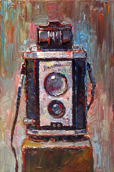 """Brownie Reflex Camera"" original fine art by Raymond Logan"