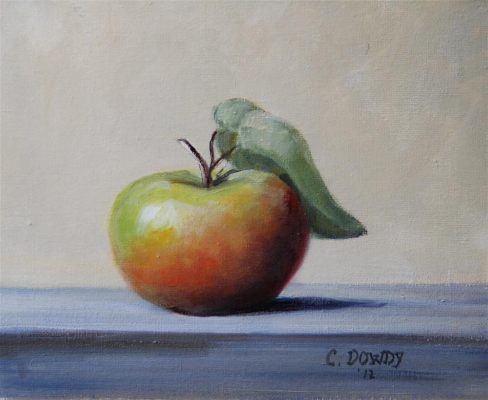"""Little Lady Apple"" original fine art by Christina Dowdy"