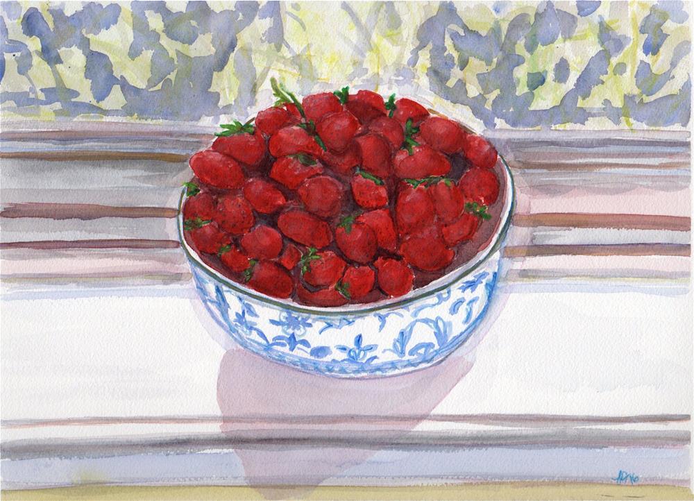 """Berry Bowl"" original fine art by Laura Denning"