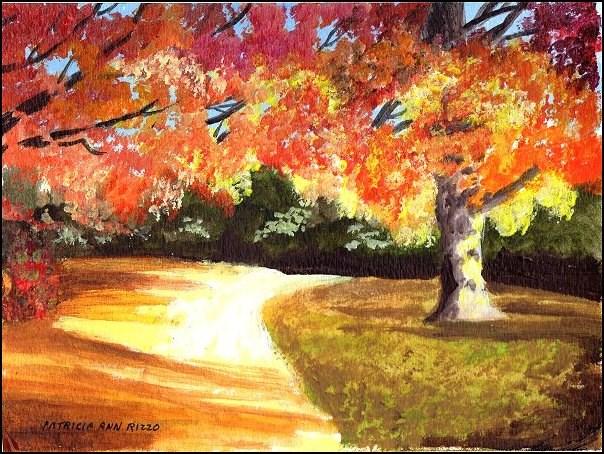 """""""Autumn Twilight"""" original fine art by Patricia Ann Rizzo"""