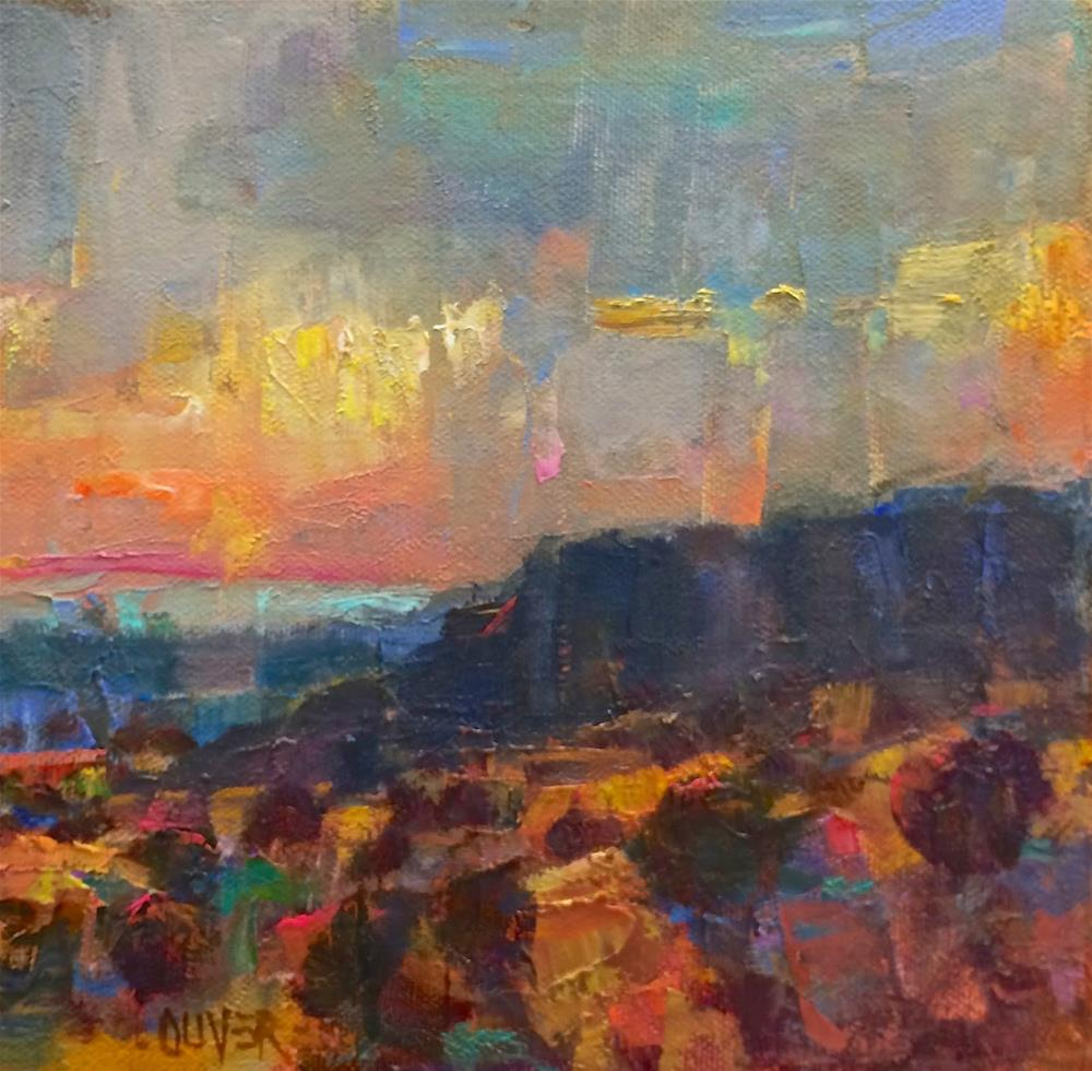 """""""Approaching Storm - New Mexico"""" original fine art by Julie Ford Oliver"""
