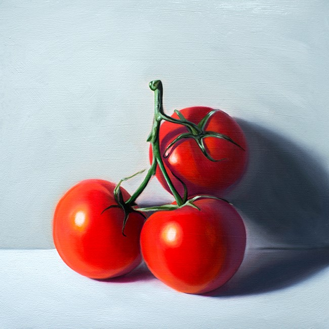 """Tomato Trio"" original fine art by Lauren Pretorius"