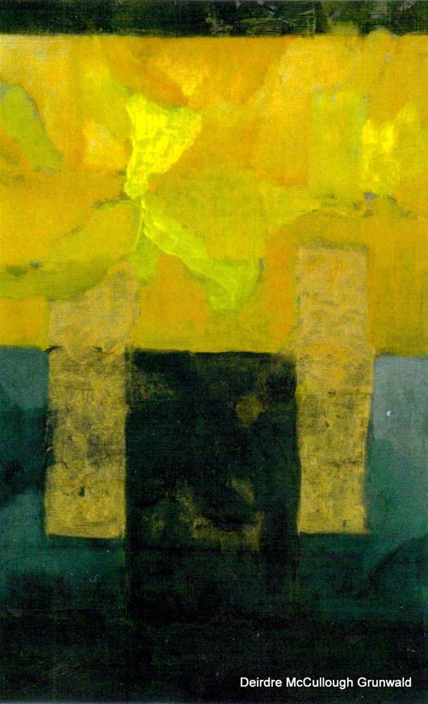 """Abstract Daffodil Study I"" original fine art by Deirdre McCullough Grunwald"