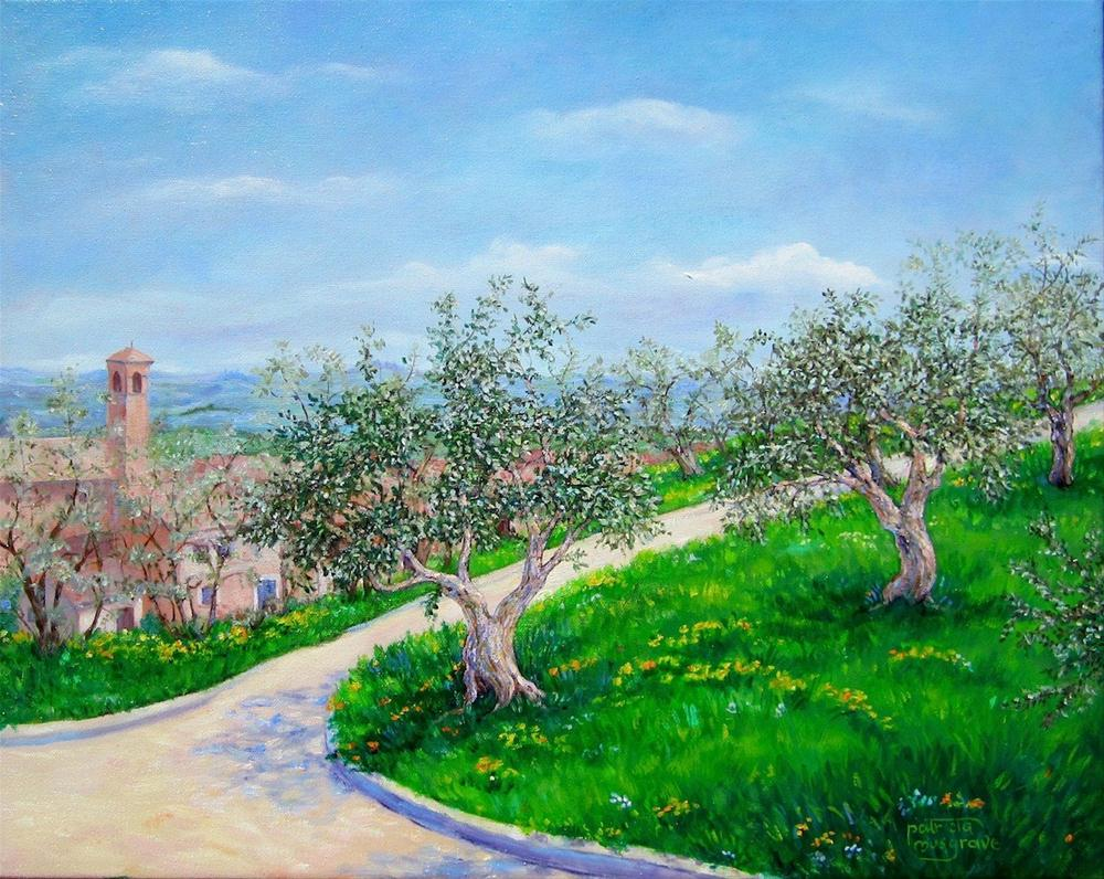 """The Olive Grove, San Gimignano"" original fine art by Patricia Musgrave"