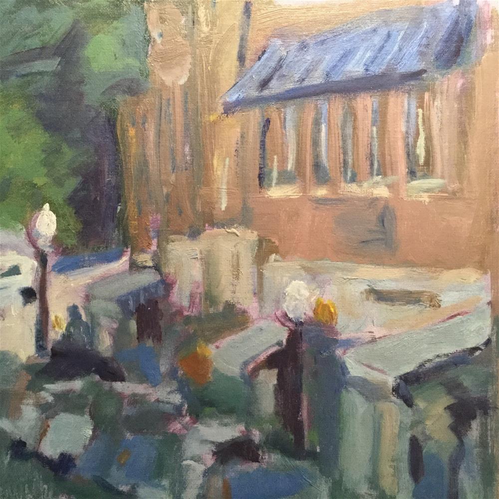 """Busy Camden"" original fine art by Barb Walker"