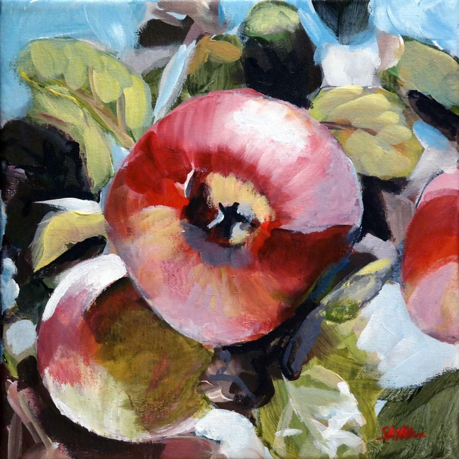 """""""1451 An Apple A Day"""" original fine art by Dietmar Stiller"""