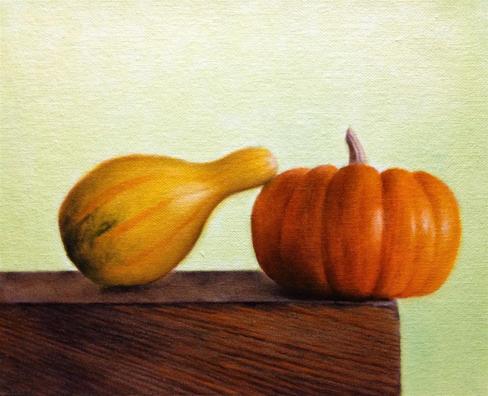 """""""Leaning Gourd"""" original fine art by Jonathan Aller"""