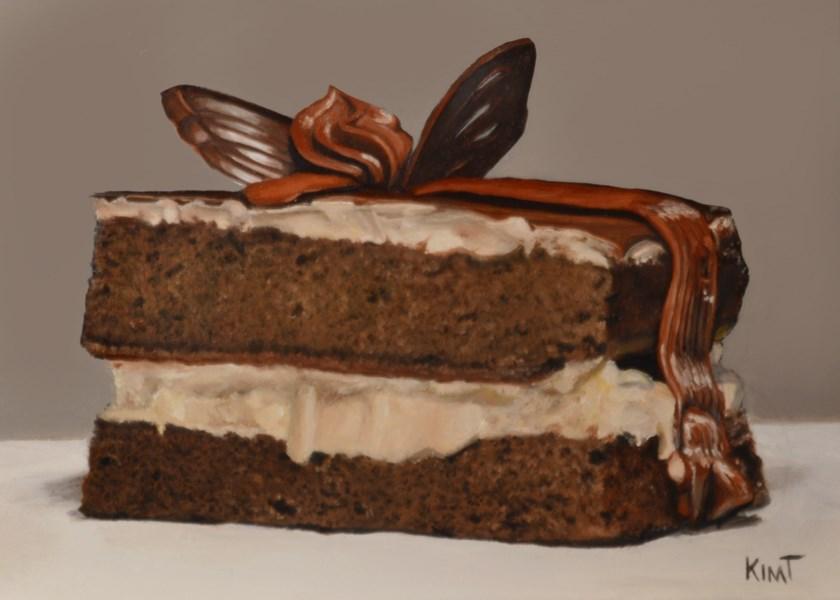 """Chocolate Ganache Cake 2"" original fine art by Kim Testone"