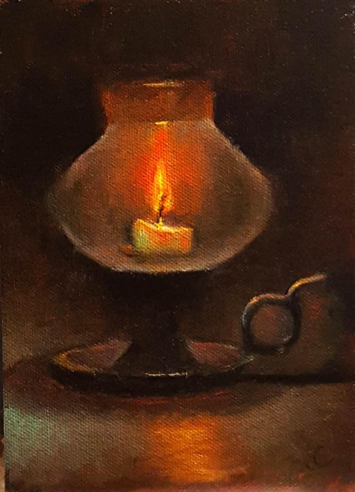 """Candle light"" original fine art by Natalia Clarke"