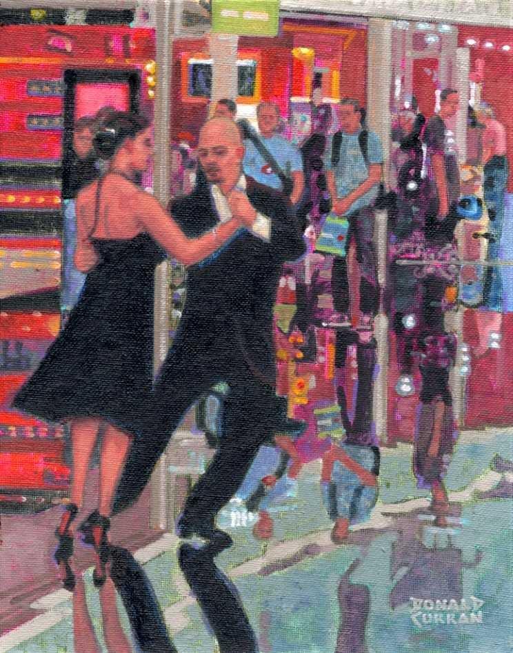"""Spanish Tango"" original fine art by Donald Curran"