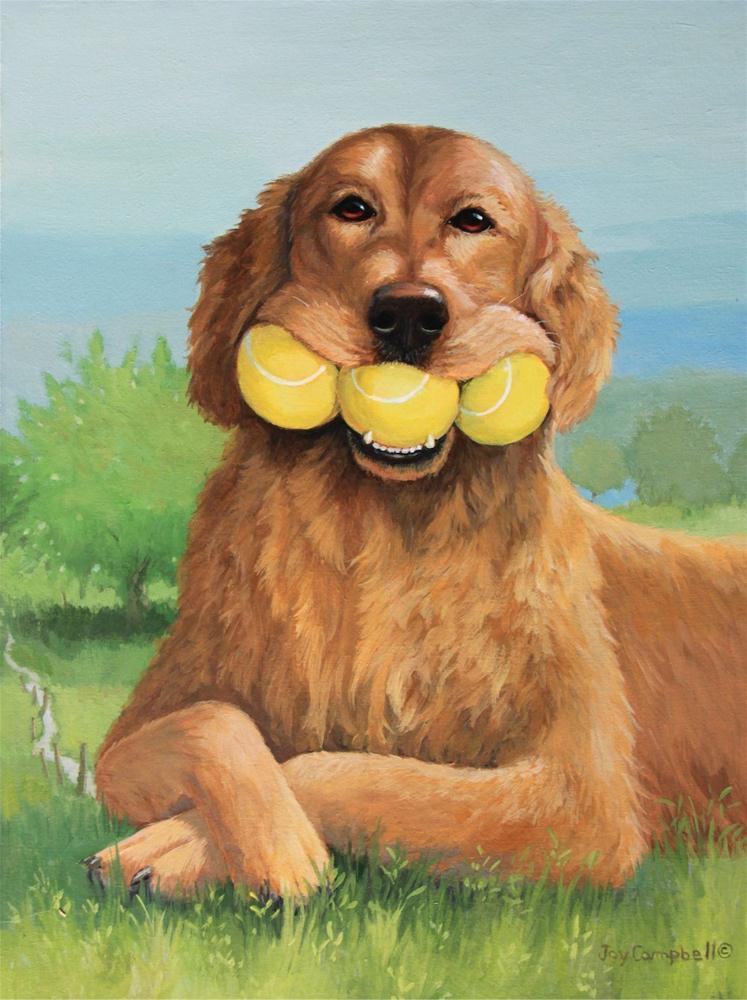 """His Best Talent"" original fine art by Joy Campbell"