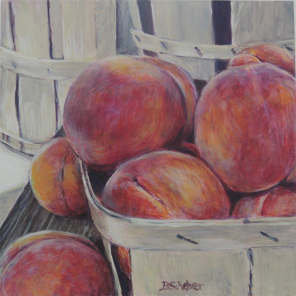 """Eat A Peach"" original fine art by Belinda Scheber"
