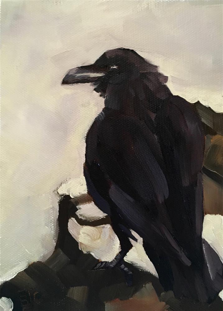 """DHS Raven"" original fine art by Bobbie Cook"
